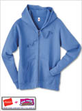 Hanes 8 oz Women's COMFORTBLEND EcoSmart Fleece Full-Zip Hood
